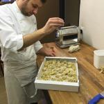 Le Chef Alessio de Modène en action