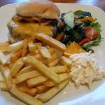 6 oz Bacon cheese burger. £8 very good!