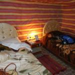 Inside our two-person tent