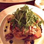 Wild Salmon and goat cheese tart. The arugula on top was a wonderful complement!