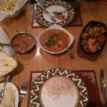 Consistently brilliant. Chicken tikka main, madras sauce, garlic nan, chicken vindaloo & Palau r