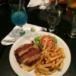 GF burger and chips