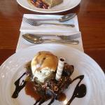 Chocolate brownie and banoffee pie! Yum :-)