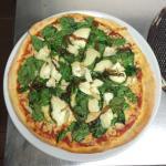 Pizza spinach Fomagio