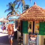 Location :ocean view beach walk way at Playa Linda Beach Resort