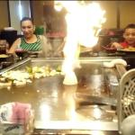 Who doesn't love a flaming volcano onion, great show too and very interactive with us.