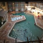 The indoor pool, from the suite