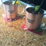 Moscow Mules made with Belvedere Vodka