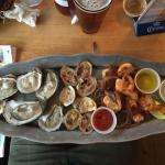 Raw clam and oyster plus shrimp platter (various sizes available)