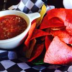 Chips and fire roasted salsa