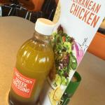 Salad dressing on the table