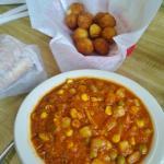 Brunswick Stew served in colder months, hot hushpuppies year round!