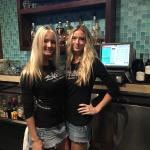 Kennedy and Kendel great service at the Bar for Joe Mara