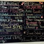 Chalk bourd menu