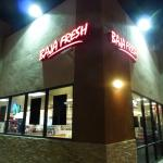 The Entrance to Baja Fresh located inside a gas station mart
