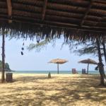 The beach in front of Blue Guru