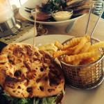Falafel burger and falafel salad