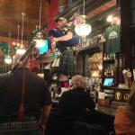 Bagpipers at the bar