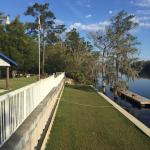 The dock area against the Suwannee River