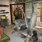 Remnants of fighter plane engines