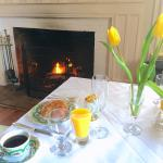 Breakfast and a fire - what's not to like?