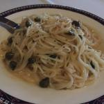 Angel Hair Pasta with lemon piccatta sauce - perfect!