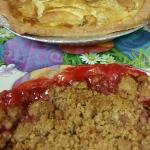 Kuchen and a Strawberry Rhubarb pie