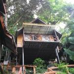 Our bungalow with visitors..