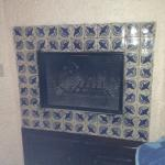 The fireplace in our $129 suite...oh they forgot to tell you? It's an EXTRA $20 if you want to u