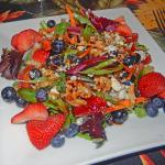 Strawberry and blueberry salad.