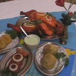 Tandoori chicken and other Entrees