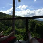 Amazing view beside the pool. Nap time.