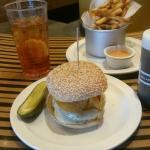 Vegas burger with fries
