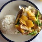 mango chicken curry, delicious