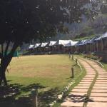Walkway towards the tents