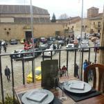 Vistas de la plaza mayor de Pedraza desde el restaurante