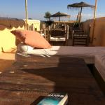 Reading on the roof
