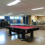 Une des salles de détente avec Billard, baby foot et ping pong