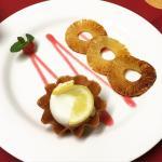Hot Pineapple with Lemen Sorbet