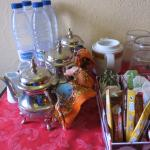 sitting room with tea,coffee and goodies