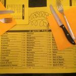 Tovaglietta con menu
