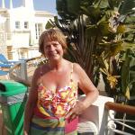 On the balcony at the villa