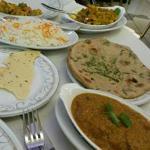Rogan Josh, Reis, Naan, Chapati