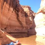 We used our kayak from HCK to get to this beautiful location! Off Lake Powell.