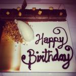 Birthday cake, chocolate hazelnut