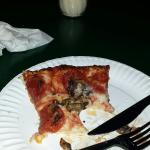 Running errands was here from out of town popped in to pick up a pie for the family OMG the best