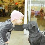 That's Ayda she is two and had a great time with this not real dog.