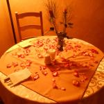Valentine's Day - Rose petal Table