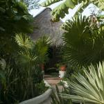 secluded path to each villa (two hotel rooms with shared palapa).