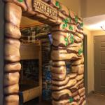 """Wolf Den kids' """"room"""" with bunk bed"""